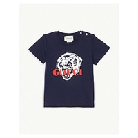 GUCCI Tiger logo cotton T-shirt 3-36 months