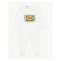 GUCCI Logo cotton all-in-one 0-18 months