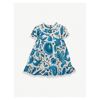 GUCCI Floral-print cotton dress 9-36 months