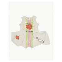 GUCCI Strawberry three-piece set 0-12 months