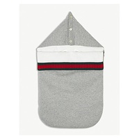 GUCCI Web stripe cotton baby nest