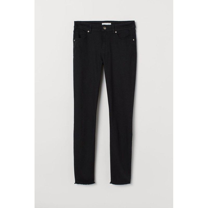 에이치앤엠 H&M Cropped twill trousers