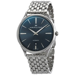 Hamilton Jazzmaster Thinline Grey Sunray Dial Automatic Mens Watch H38525141