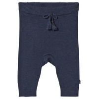 Hust&Claire Navy Tiny Knit Trousers