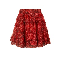 IRO Dazzle ruffled printed georgette mini skirt