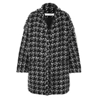 IRO Trouble oversized houndstooth boucl챕 coat