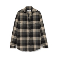 IRO Garance plaid cotton-blend flannel shirt