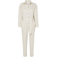 IRO Belted embellished linen and cotton-blend jumpsuit