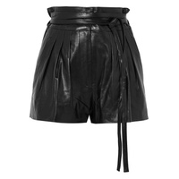 IRO Stable pleated leather shorts