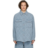 Blue Quilted Denim Shirt