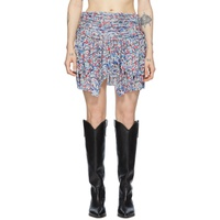Blue & Multicolor Santa Skirt