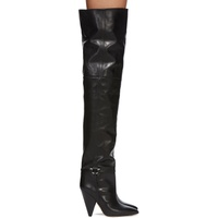 Black Leather Lage Tall Boots