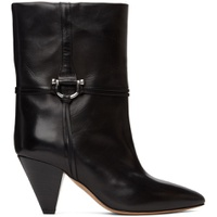Black Leather Lilet Ankle Boots
