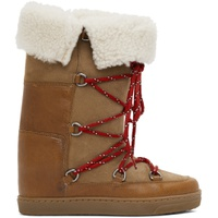 Brown Shearling Nowly Boots