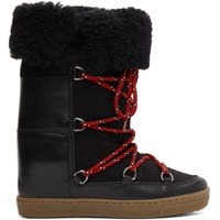 Black Shearling Nowly Boots