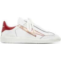 White & Rose Gold Bryce Sneakers