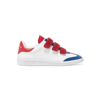 Isabel Marant Beth suede-trimmed color-block leather sneakers