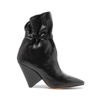 Isabel Marant Lileas ruched leather ankle boots