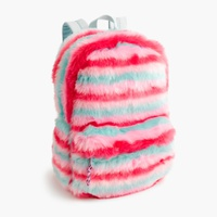 Girls' furry backpack
