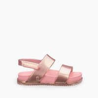 Girls' Mini Melissa® Mini cosmic sandals in rose gold