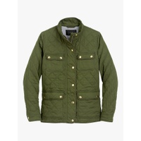 J.Crew Quilted Downtown Field Jacket, Deep Moss