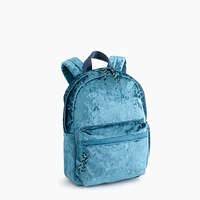 Jcrew Girls crushed velvet mini backpack