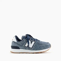 Jcrew Kids crewcuts X New Balance 574 sneakers in chambray