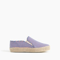 Jcrew Kids canvas espadrille slip-ons in stripes