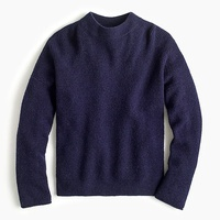 Jcrew Point Sur button-back sweater in waffled supersoft yarn