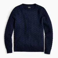 Jcrew Cable crewneck sweater in everyday cashmere