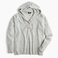 Jcrew Everyday cashmere pullover hoodie sweater