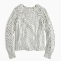 Jcrew Cable-knit sequin sweater