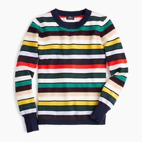 Jcrew Long-sleeve everyday cashmere crewneck sweater in multistripe