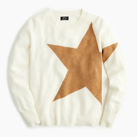 Jcrew Long-sleeve everyday cashmere crewneck sweater with star