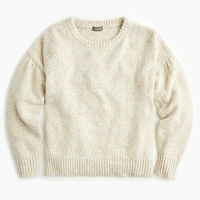Jcrew Point Sur balloon sleeve donegal crewneck sweater