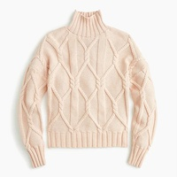 Jcrew Collection cable-knit mockneck sweater