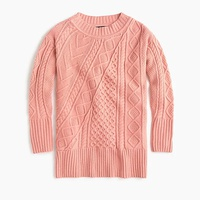 Jcrew Oversized patchwork cable-knit tunic sweater