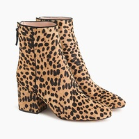 Jcrew Sadie ankle boots in leopard calf hair