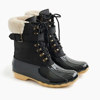 Jcrew Womens Sperry for J.Crew Shearwater buckle boots in black