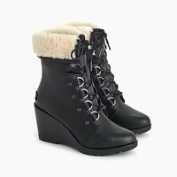 Jcrew Womens Sorel After Hours lace up shearling boots