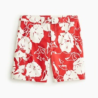 Jcrew 9 stretch board short in red and white floral