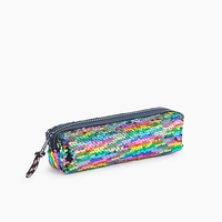 Jcrew Girls pencil case in reversible sequins