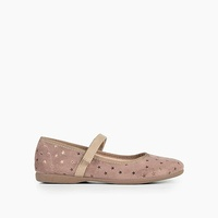 Jcrew Girls Childrenchic Mary Janes in pale mauve star suede