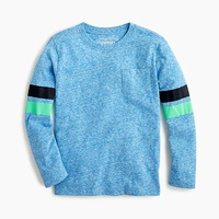 Jcrew Boys pocket T-shirt with striped sleeves