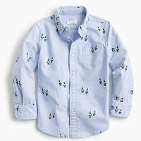 Jcrew Boys critter oxford shirt in gnomes