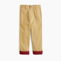 Jcrew Boys flannel-lined stretch chino pant