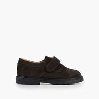 Jcrew Boys Childrenchic Velcro loafers in brown suede
