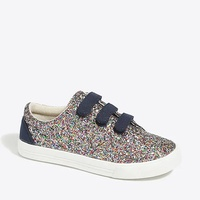 Jcrew Girls glitter Velcro sneakers