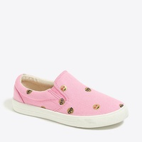 Jcrew Girls canvas emoji sneakers