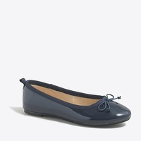 Jcrew Girls classic patent leather ballet flats